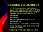 temperature and lechatelier s