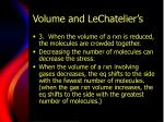 volume and lechatelier s