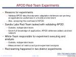 apod red team experiments