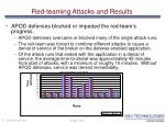 red teaming attacks and results