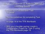 task d collaborate to address special learning needs1