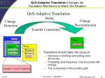 qos adaptive translation changes the translation mechanics to match the situation