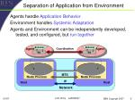 separation of application from environment