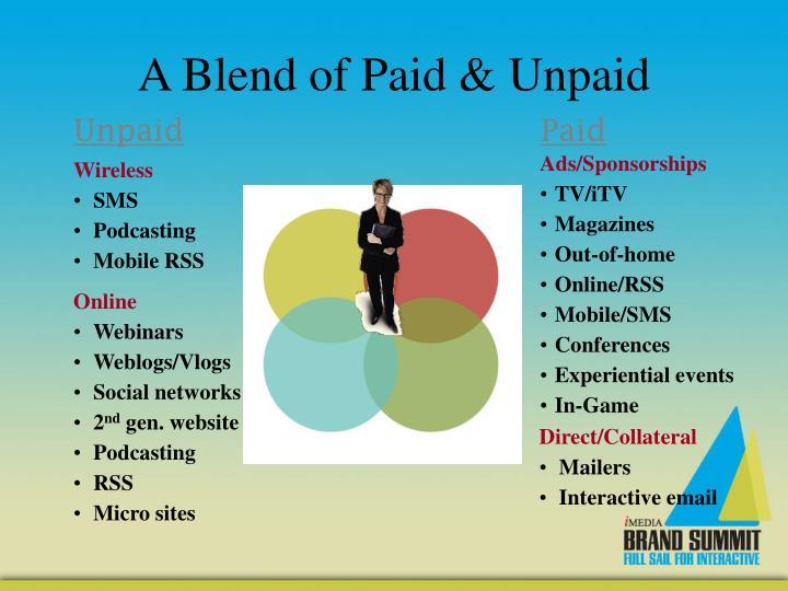 A Blend of Paid & Unpaid