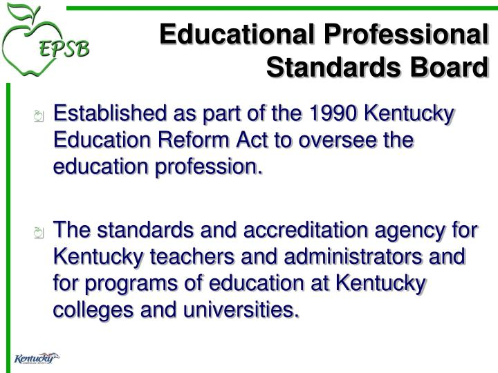 Educational professional standards board