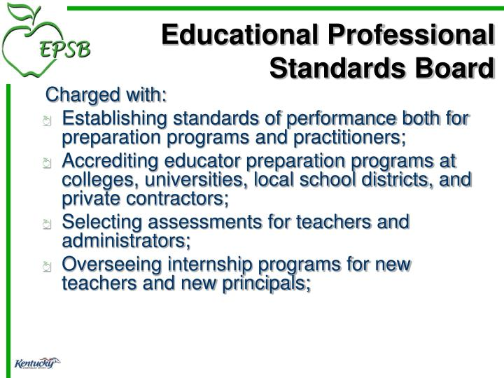 Educational professional standards board1