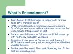 what is entanglement