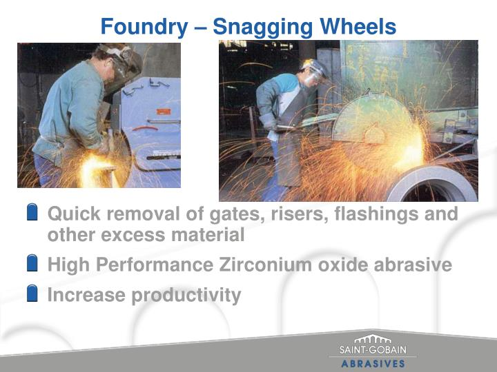 Foundry snagging wheels