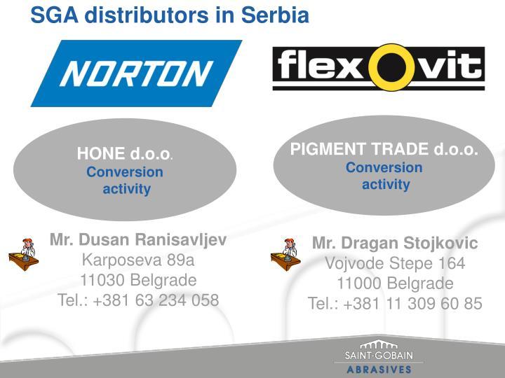 SGA distributors in Serbia