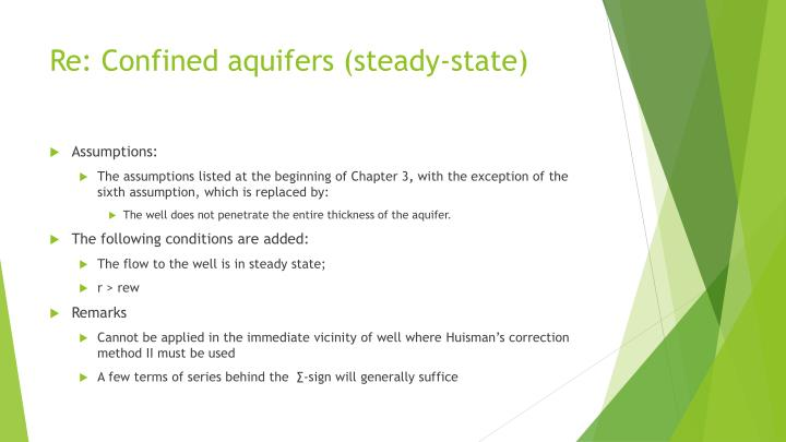 Re: Confined aquifers (steady-state)