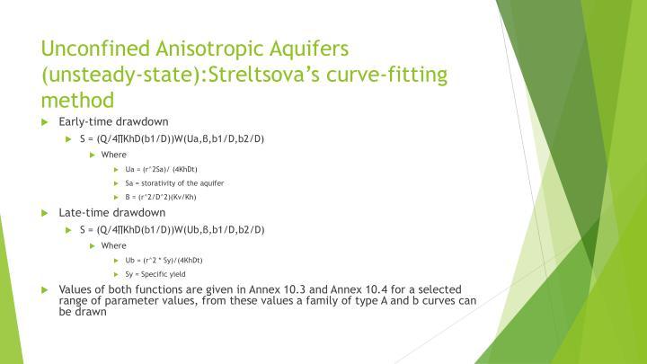 Unconfined Anisotropic Aquifers