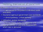 nursing standards of care con s