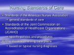 nursing standards of care