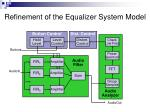 refinement of the equalizer system model