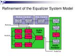 refinement of the equalizer system model1