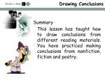 drawing conclusions15