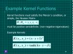 example kernel functions