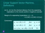 linear support vector machine definitions