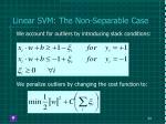 linear svm the non separable case