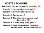 ncbts 7 domains sldcpct