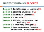 ncbts 7 domains sldcpct1