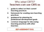 why adopt cbts teachers can use cbts as
