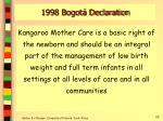 1998 bogot declaration
