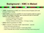 background kmc in malawi