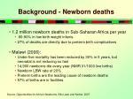 background newborn deaths