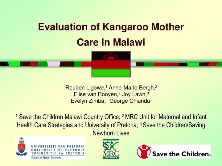 evaluation of kangaroo mother care in malawi n.