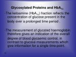 glycosylated proteins and hba 1c3