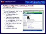 icm knowledge and technology transfer http www its dot gov icms