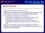 webinar overview