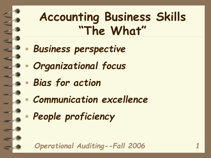 accounting business skills the what n.
