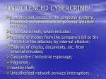 unviolenced cybercrime