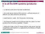 how to get the core data structures in to all the ehr systems products