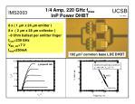 1 4 amp 220 ghz f max inp power dhbt