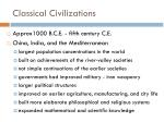 classical civilizations