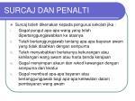 surcaj dan penalti