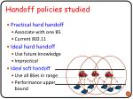 handoff policies studied1