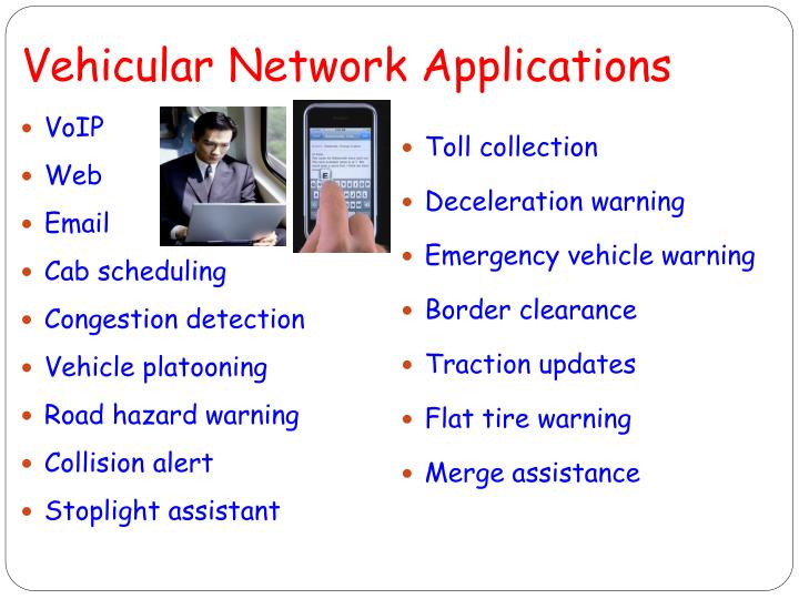 vehicular network applications n.