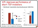 vifi improves performance of short tcp transfers