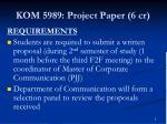 kom 5989 project paper 6 cr1