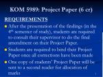 kom 5989 project paper 6 cr5