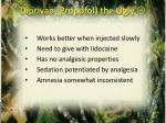 diprivan propofol the ugly