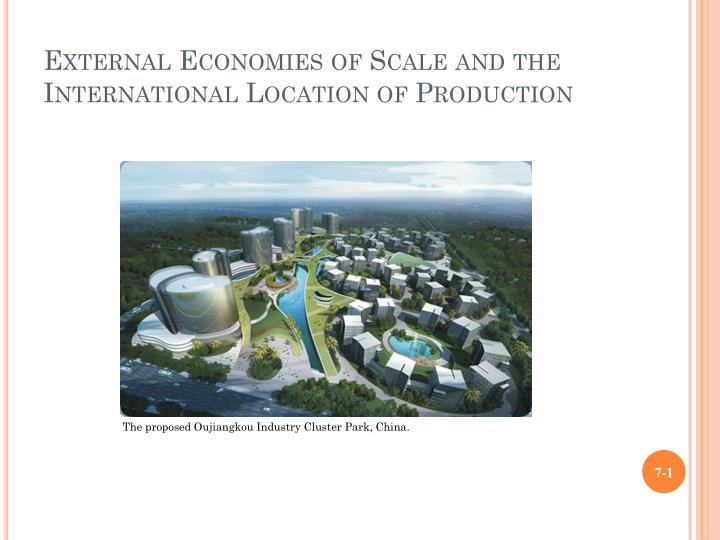 external economies of scale and the international location of production n.