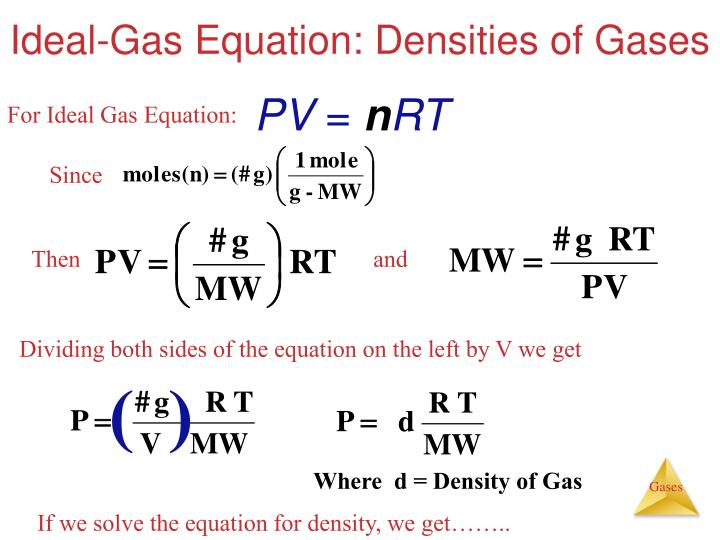 Ideal-Gas Equation: Densities of Gases