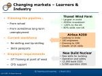 changing markets learners industry