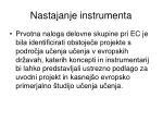 nastajanje instrumenta