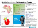mobile banking pathbreaking route